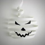 Halloween-Kürbis mit Papier Lizenzfreie Stockfotografie