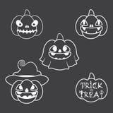 Halloween-Kürbis-Monoton Lizenzfreie Stockbilder