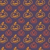 Halloween-Kürbis-nahtloses Muster Stockfoto
