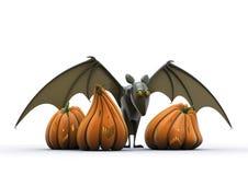 Halloween-Kürbis und Hieb Stockfotos