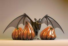 Halloween-Kürbis und Hieb Lizenzfreie Stockfotografie