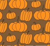 Halloween-Kürbis-Vektor-Muster Einfache Illustration von Halloween-Kürbisen für Webseitenhintergrund, Packpapier Stockbild