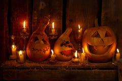 Halloween-Kürbise Stockfoto