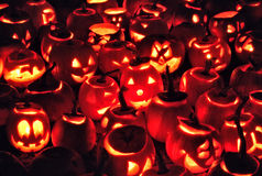 Halloween-Kürbise Lizenzfreies Stockbild