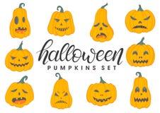 Halloween-Kürbise eingestellt Stockbild