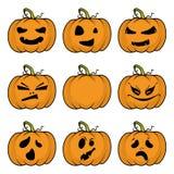 Halloween-Kürbise eingestellt Stockfotografie