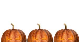 Halloween-Kürbise getrennt Lizenzfreies Stockbild