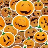 Halloween-Kürbise - nahtloses Muster Lizenzfreie Stockfotografie