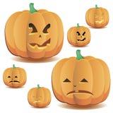 Halloween-Kürbise stellten 4 ein vektor abbildung