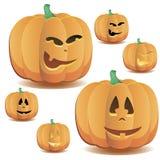 Halloween-Kürbise stellten 7 ein stock abbildung