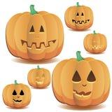 Halloween-Kürbise stellten 6 ein stock abbildung