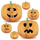 Halloween-Kürbise stellten 14 ein lizenzfreie abbildung