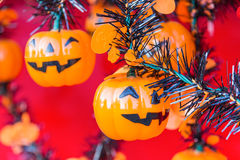 Halloween, Kürbise und Halloween-Landschaft Stockfotografie