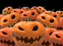 Halloween-Kürbisgruppe Lizenzfreie Abbildung