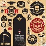 Halloween-Kürbiskennsätze Lizenzfreie Stockfotos