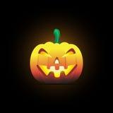 Halloween-Kürbislächeln Stockfoto