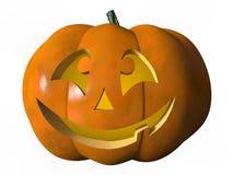 Halloween-Kürbislachen Lizenzfreie Stockfotografie