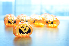 Halloween-Kürbislampe stockfoto