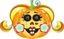 Halloween-Kürbismädchen Lizenzfreie Stockbilder
