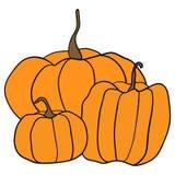 Halloween-Kürbismuster Einfache Kürbise auf weißem Hintergrund für Webseitenhintergrund, Packpapier Stockfoto