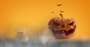 Halloween-Kürbisnebel 3d-illustration lizenzfreie abbildung