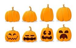 Halloween-Kürbissatz Stockfotografie