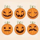 Halloween-Kürbisset stock abbildung