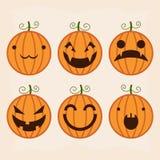 Halloween-Kürbisset Lizenzfreies Stockbild