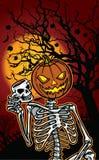 Halloween-Kürbisskelett Lizenzfreie Stockfotos