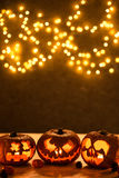 Halloween-Kürbissteckfassung-olaterne Lizenzfreies Stockbild