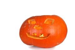 Halloween - Kürbissteckfassung-olaterne auf weißem Hintergrund Lizenzfreie Stockbilder