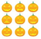 Halloween-Kürbisvektorabbildungen Lizenzfreies Stockbild