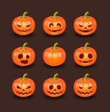Halloween-Kürbisvektorsatz Lizenzfreie Stockfotos