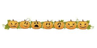 Halloween-Kürbiszeile Dekoration Lizenzfreie Stockfotografie
