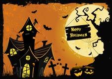 Halloween-Kaart Royalty-vrije Stock Foto