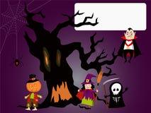 Halloween-Kaart Stock Afbeelding
