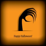 Halloween-kaart Royalty-vrije Illustratie