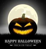 Halloween-kaart Royalty-vrije Stock Afbeeldingen