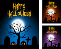 Halloween-kaarten Stock Afbeeldingen