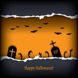 Halloween-kaartontwerp Stock Illustratie