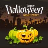 Halloween-kaartontwerp Royalty-vrije Stock Afbeeldingen