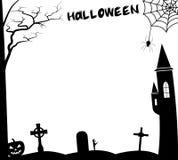 Halloween-kader tample royalty-vrije illustratie