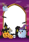 Halloween-kaderviooltje royalty-vrije stock afbeelding