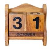 Halloween-Kalender auf Weiß Lizenzfreies Stockbild