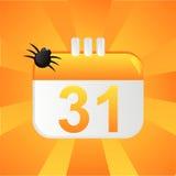 Halloween-Kalenderhintergrund vektor abbildung