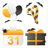 Halloween-Kalenderikonen lizenzfreie abbildung