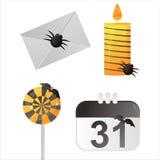 Halloween-Kalenderikonen stock abbildung