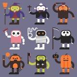 Halloween-karakters Royalty-vrije Stock Afbeeldingen
