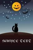 halloween karciany szablon Zdjęcie Royalty Free