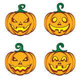 Halloween-Karikaturkürbis-Steckfassungslaterne Stockfotografie